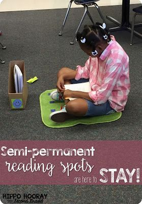 Independent Reading Routines: The Reading Spot. GENIUS! Why having semi-permanent reading spots in the classroom can benefit your readers, especially if you use reader's workshop or Daily 5/CAFE for independent reading!