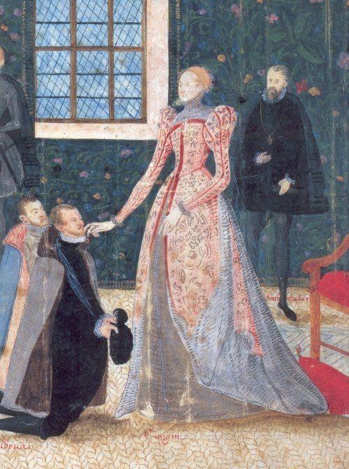 Elizabeth I receiving two Dutch ambassadors, 1585. This painting was made shortly before the earl of Leicester's expedition to the Low Countries.