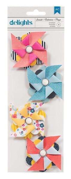 Shoreline Seaside Pinwheels Embellishments by American Crafts - #StudioCalicoPinToWin
