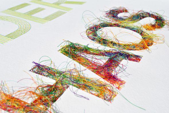 Peter Crawley est un illustrateur designer ayant étudié la conception de produit. Il travaille actuellement dans le design mais réalise également des affiches avec des illustrations cousues.  Son travail a déjà été plébiscité par de nombreux annonceurs et magazine.  Je vous présente son affiche intitulée « Order Chaos » qui décrit bien son travail.