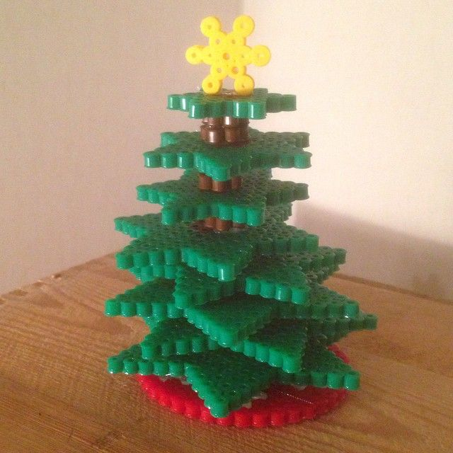 3D Christmas tree perler beads by biran21