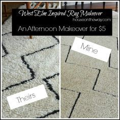 West Elm Inspired Rug Makeover from houseontheway.com