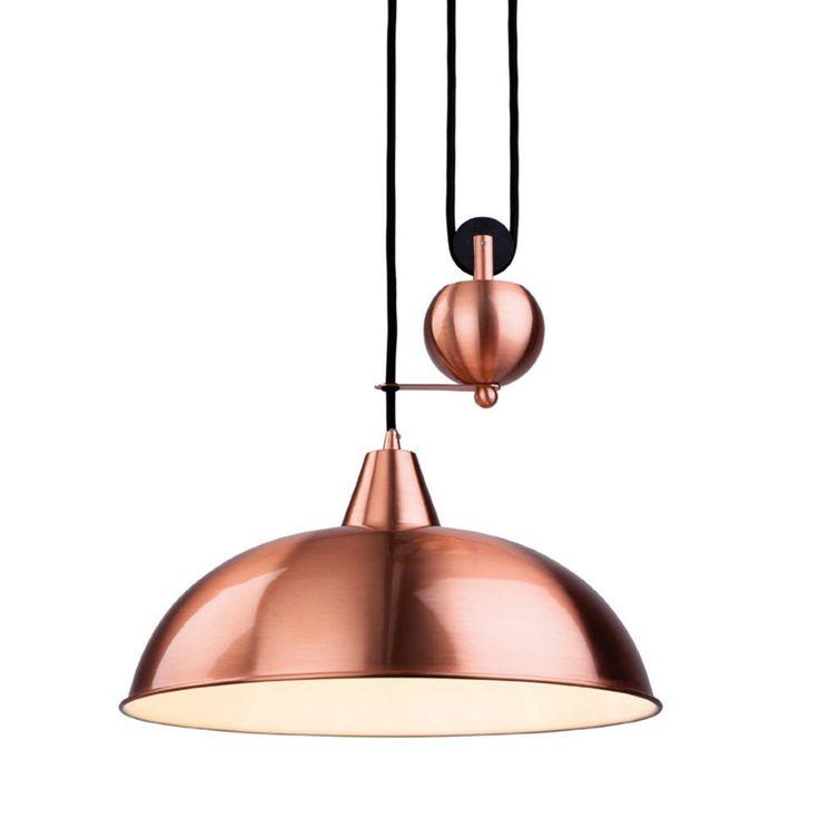 Vintage Chardelier Light Retractable Metal Pulley Loft Pendant Lamp