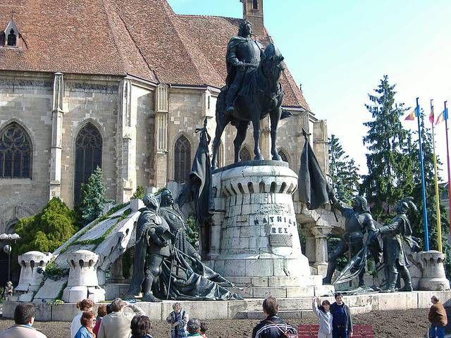 Matthias Corvinus Monument, Cluj Napoca, Romania