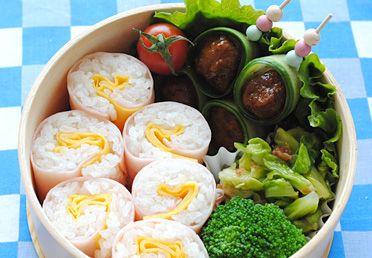 日本ハム | レシピ - ロールおにぎり弁当