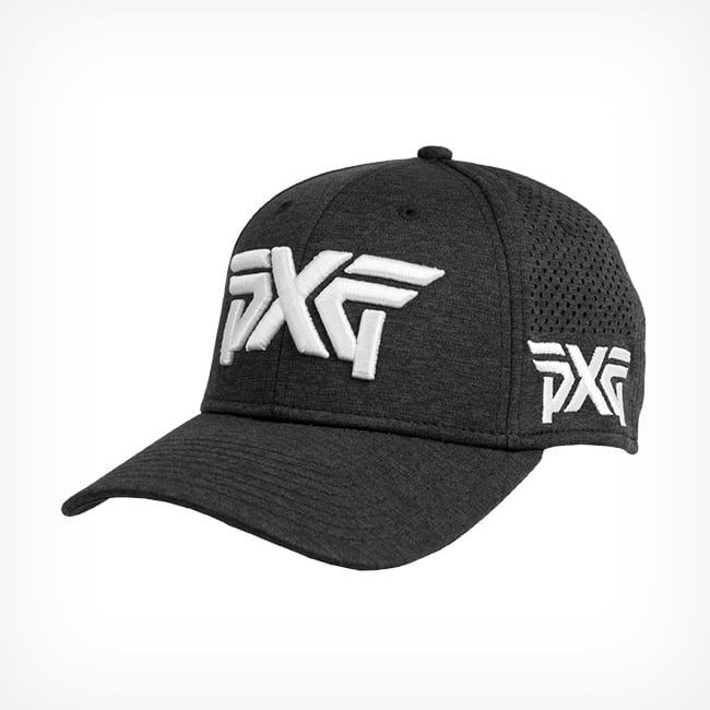 38d559a9541 PXG New Era Laser Mesh Shadow Tech Fitted Hat Black 1