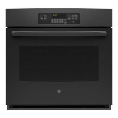 GE 30 in. Single Electric Wall Oven Self-Cleaning with Steam in Black - JT3000DFBB - The Home Depot