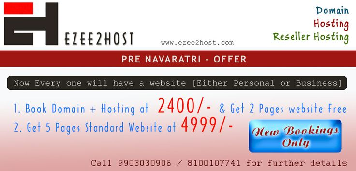2400/- will give you ready website, domain and a hosting, what else you want. Call 9903030906 / 8100107741