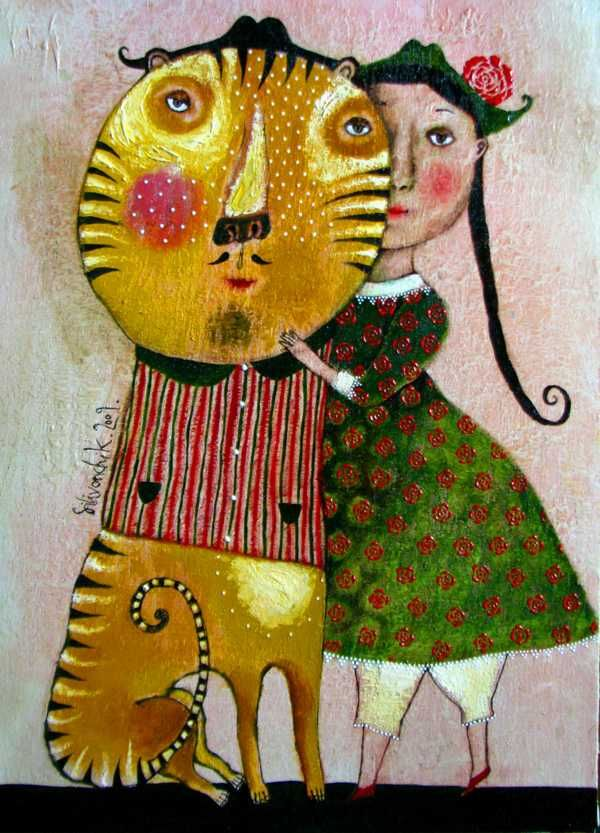 """Tiger"" 2009. 50x40cm. Oil on canvas"
