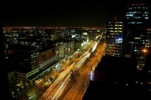 Santiago at night - Jose Barrera - http://bit.ly/6VskWZ — en Santiago, Chile.
