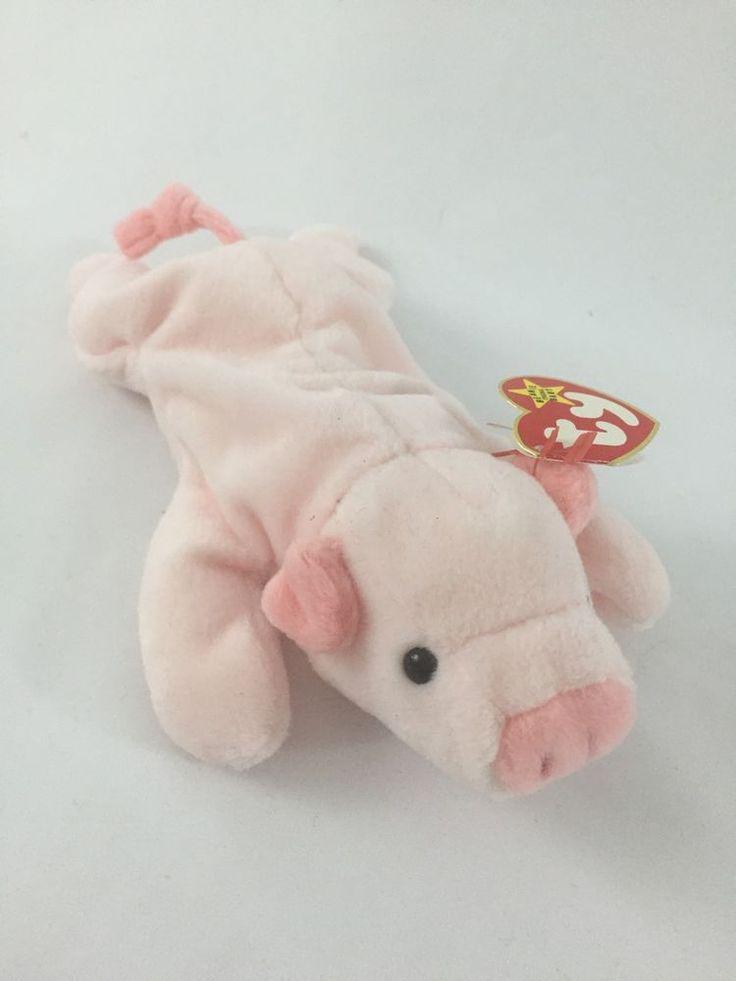RARE Ty Beanie Babies Original Squealer 4005 Retired PVC Poem Error | eBay