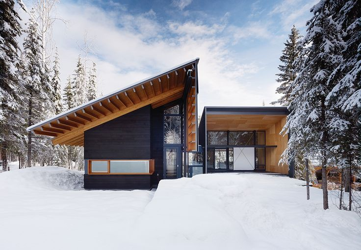 PROJECT: kicking Horse Residence  ARCHITECT: Bohlin Cywinski Jackson and Bohlin Grauman Miller Architects.  A modernist cabin in British Columbian ski country is the perfect retreat for a family of outdoor adventurers.