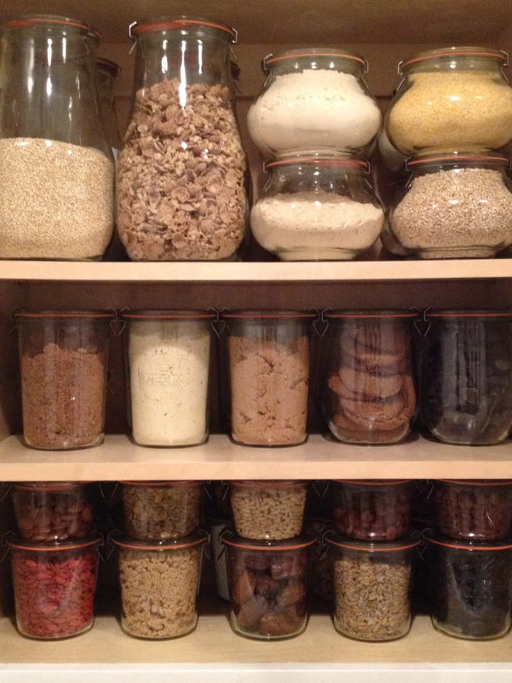 My kitchen cabinet. I have a little obsession with weck jars