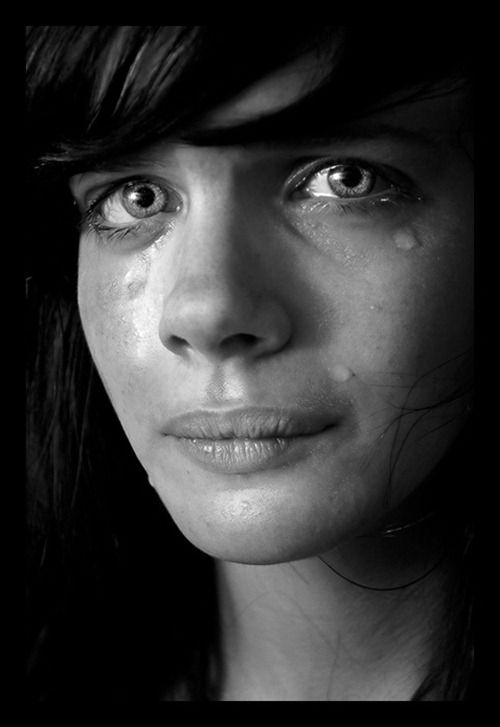 Heartbreaking sad eyes & tears photography