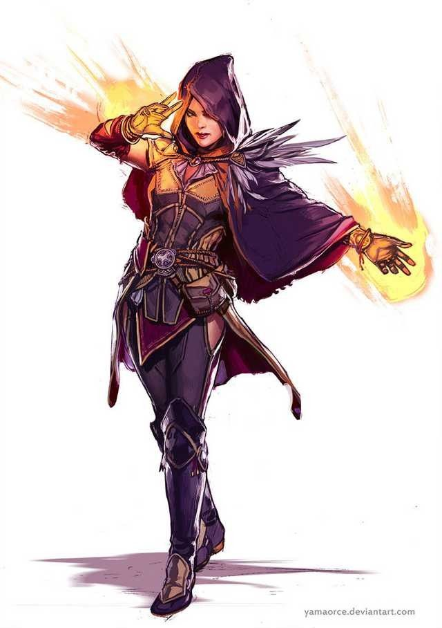 human mage female, yamacore.deviantart.com