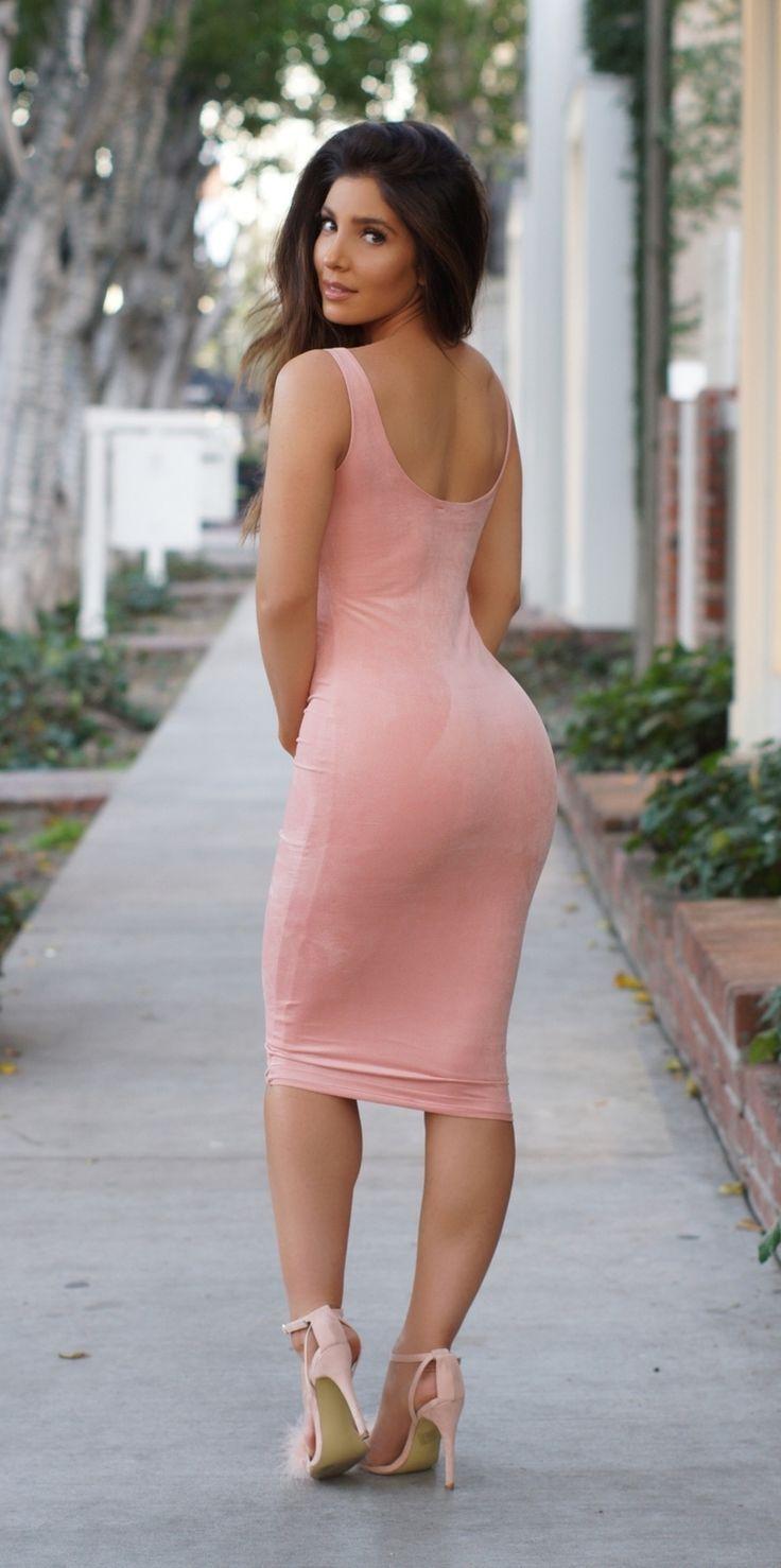 Skin Tight Dress - Blush/Nude, Dresses   Fashion Nova