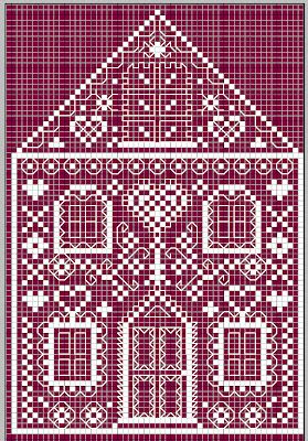 Gazette94 house cross-stitch - free