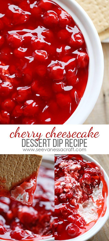 Cherry Cheesecake Dip Recipe - Perfect for Valentine's Day Dessert