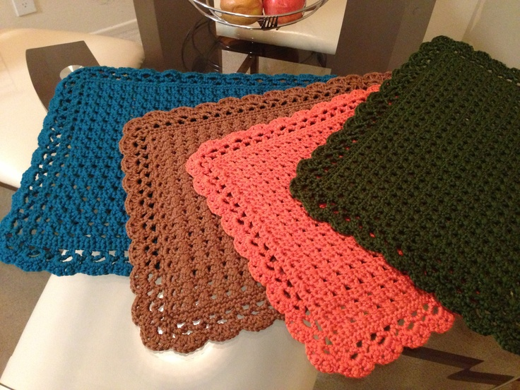 Crochet Patterns Placemats : 17 Best images about Crochet-Placemats and Sets on ...
