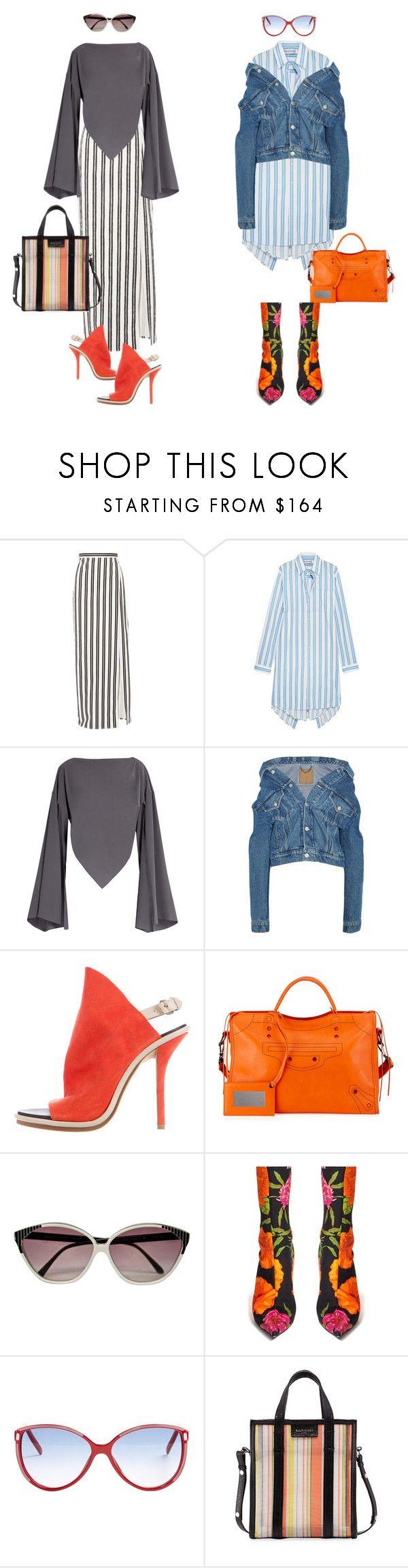 Total look - Balenciaga by repriza on Polyvore featuring мода and Balenciaga. Изысканный Баленсиага. Полоски и экстравагантная обувь. Очень городские образы в стиле casual.