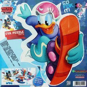 Karpet Puzzle Evamat Karakter Mickey Ice Skate 30 x 30 cm