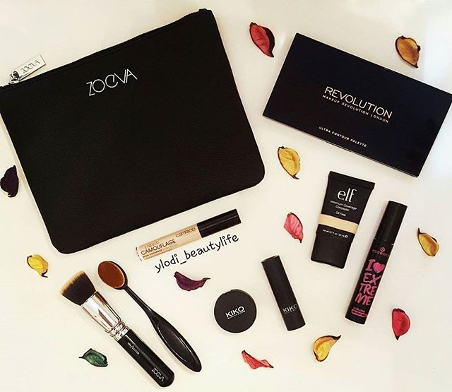 Zoeva clutch and brushes, Makeup Revolution London Ultra Contour Palette, Full Coverage Concealer Kiko, Maximum Coverage Concealer E.l.f, I Love Extreme Mascara Essence, Liquid Camouflage High Coverage Concealer Catrice, Kiko Lipstick, Oval Brushes ❤ #zoeva #zoevacosmetics #kiko #kikomilano #kikocosmetics #elf #elfcosmetics #catrice #catricecosmetics #essence #essencecosmetics #make #up #revolution #makeup #review #cosmetics