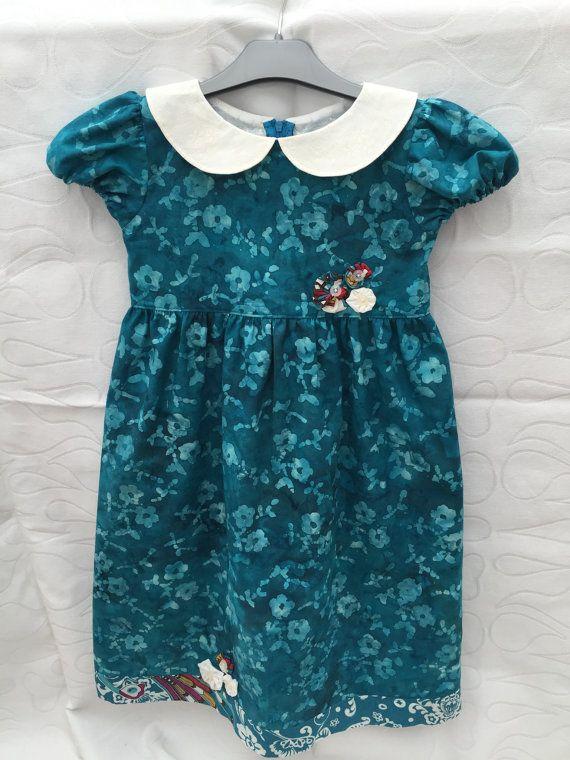 Girls dress size 5 batik dress toddlers dress girls dress