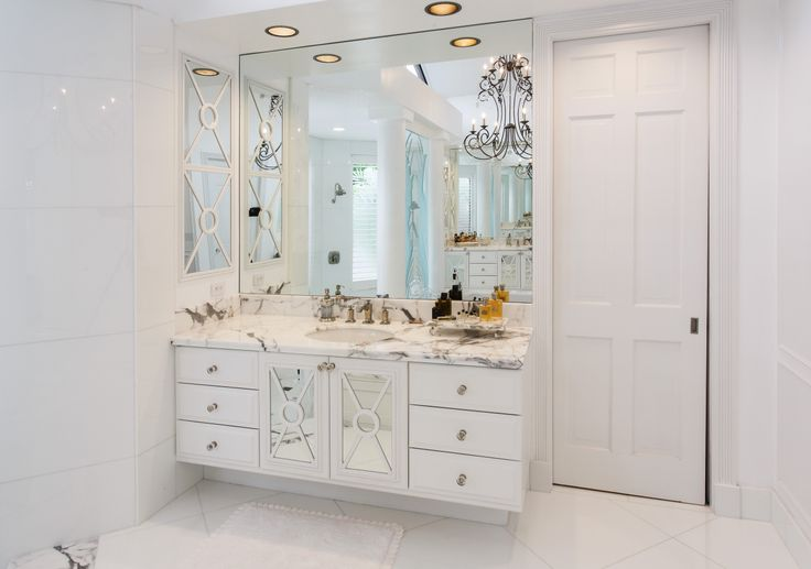 Gorgeous White Marble Bathroom #bathroom #luxury #countertop #white #marble #statuario #delraybeach #southflorida #vanity #natureofmarble #marblecounter #marblebathroom
