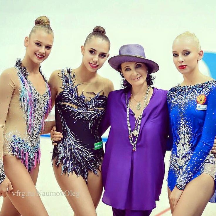 Alexandra SOLDATOVA, Magarita MAMUN, Irina VINER (Head coach) & Yana KUDRYATVEVA all from Russia Photographer Oleg Naumov.