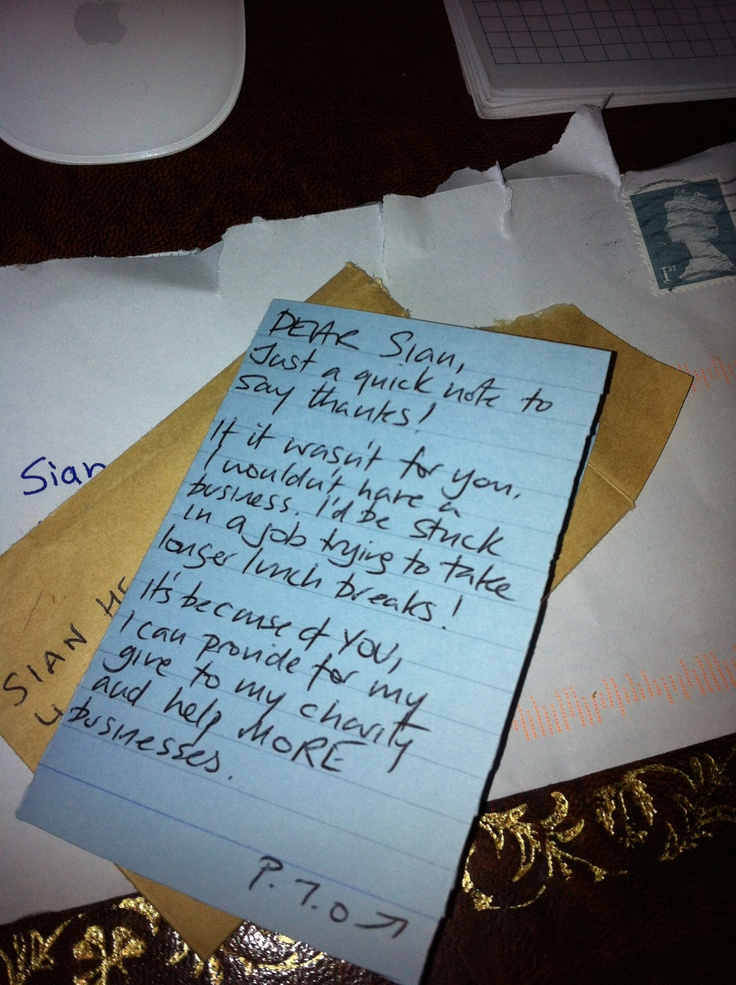 A thank you note from Glenn Bridges of Hula Bear Media