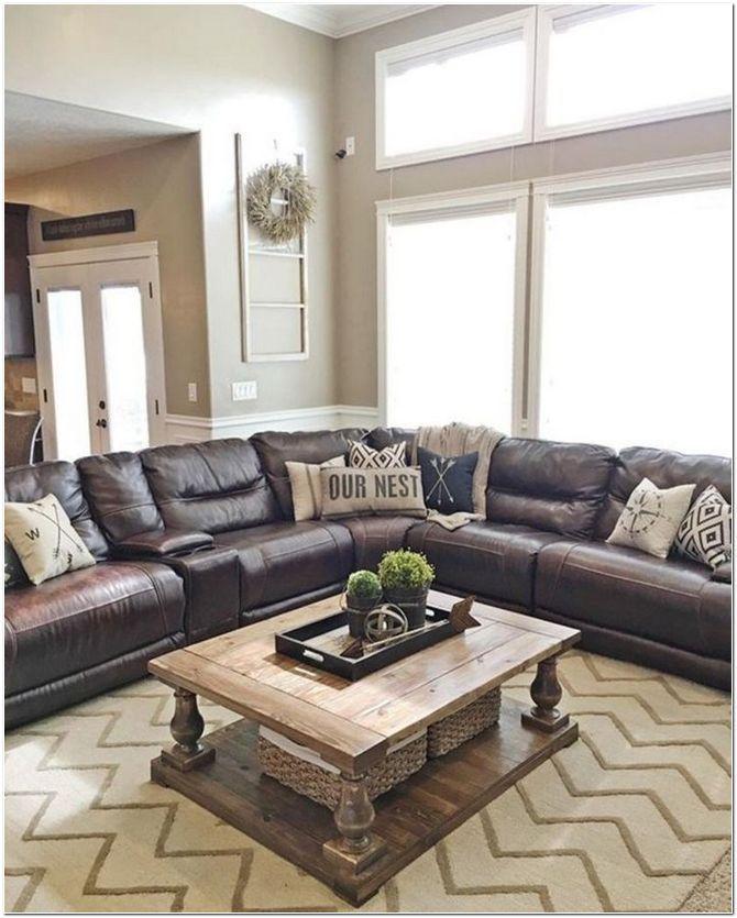 80 Interior Decorating Ideas Living Room Leather Sectional Living Room Decor Living Room Sectional