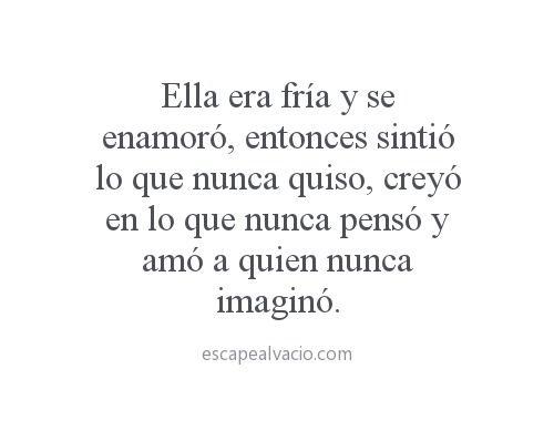 Escape al vacío.  #Feelings♡