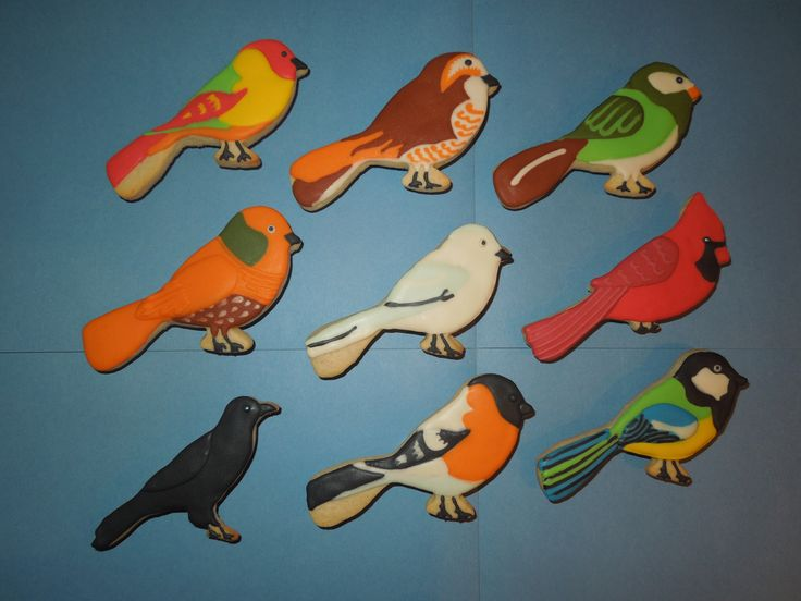 Bird cookies from MarianneofFranceLLC (Etsy)