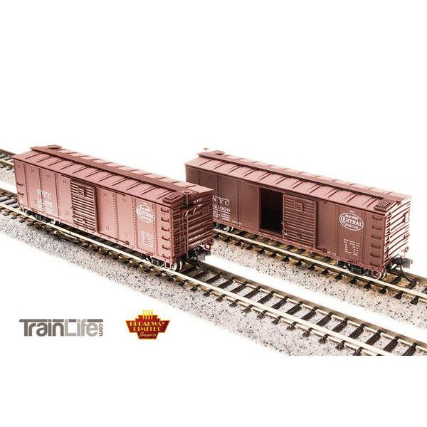 N Scale: NYC Steel Boxcar - 4-pack (Dreadnaught ends, pre-1955 Roman Lettering)