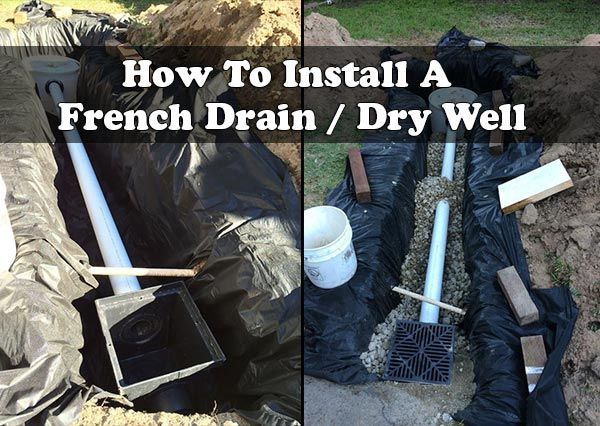 17 Best Ideas About French Drain Installation On Pinterest