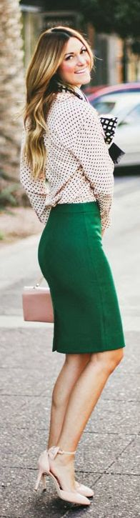 Best 25  Green Pencil Skirts ideas on Pinterest | Animal print ...