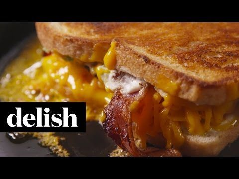 Jalapeno Popper Grilled Cheese | Delish - YouTube