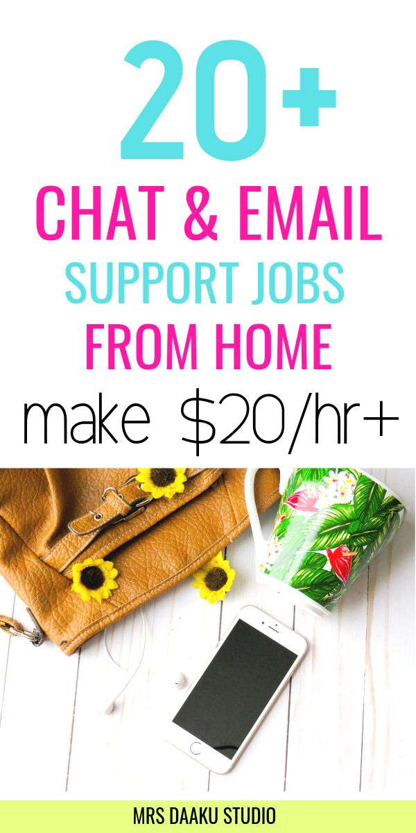 20+ chat and email support jobs from home (HIRING NOW)