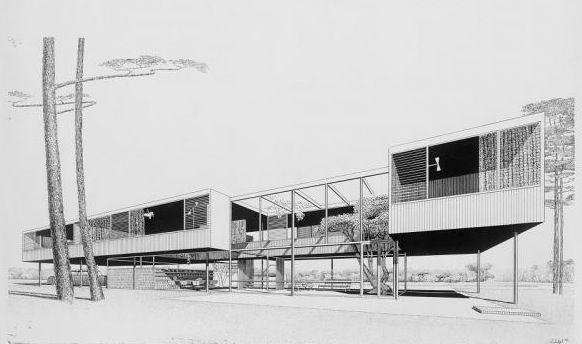 #fc3arch: Paul Rudolph, Leavengood residence, St. Petersburg, Florida, 1950-1951