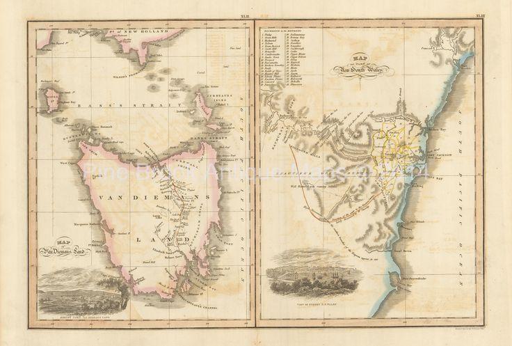 Pine Brook Antique Maps - Van Diemen's Land New South Wales Antique Map Wyld 1827, $474.99 (http://www.pinebrookmaps.com/van-diemens-land-new-south-wales-antique-map-wyld-1827/)