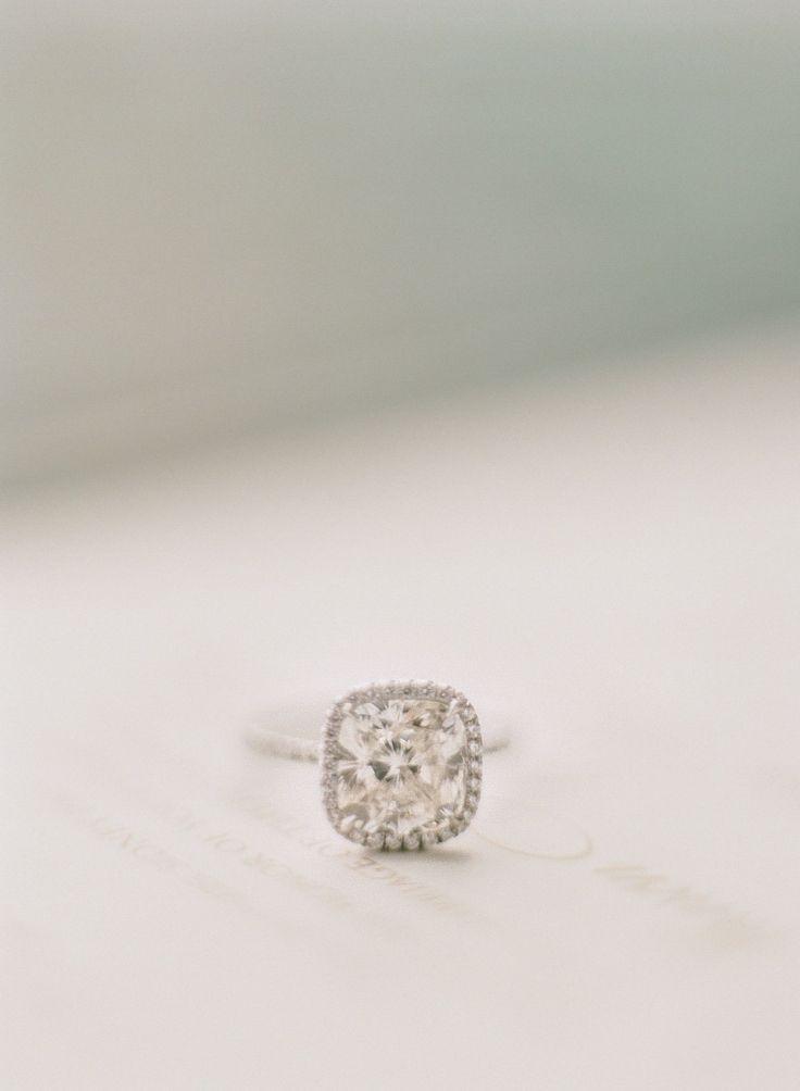 #Engagement Ring   See the wedding on #SMP Weddings: http://www.stylemepretty.com/virginia-weddings/2013/12/11/potomac-falls-virginia-wedding/  Photography: Abby Jiu Photography