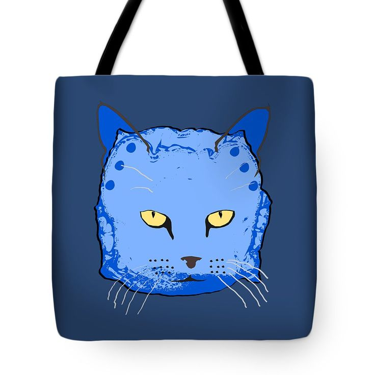 Cloth Diaper Cat In Blue Tote Bag by Sverre Andreas Fekjan.  The tote bag is machine washable, available in three different sizes, and includes a black strap for easy carrying on your shoulder.  All totes are available for worldwide shipping and include a money-back guarantee.