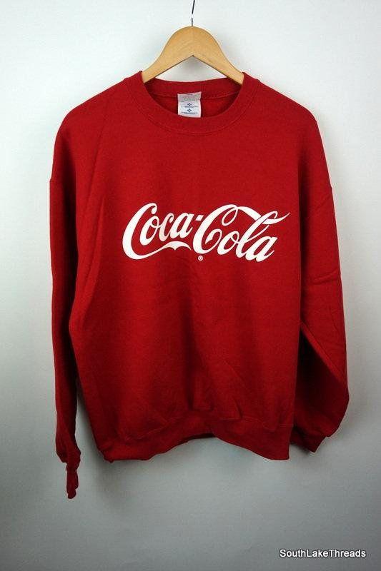 a96866d61835c Vintage 80s Coca-Cola Coke Sweatshirt Adult Extra Large XL Spellout Logo  Vintage Sweatshirt Soda VTG Made in the USA  vintage  80s  coca cola  soda  ...