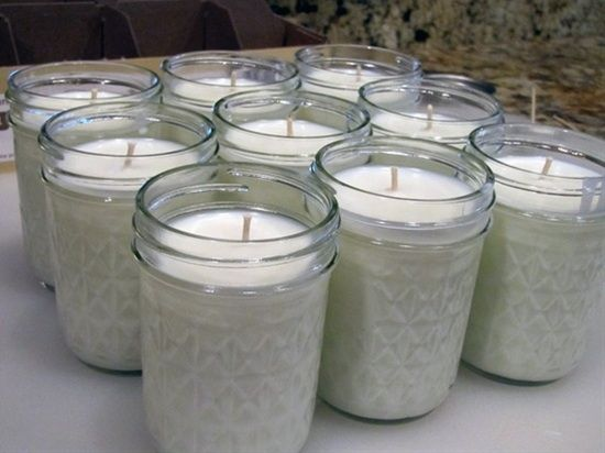 Make your own 50-hour candles for less than 2 each!! #DIY #candles