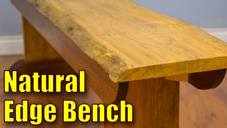 How to Make a Live Edge Bench #woodworking