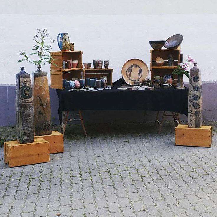 Probeaufbau für unseren ersten Markt!  Wir sehen uns von 29. - 30.9.17 im Waltherpark in Innsbruck   #pottery #ceramics #market #claudiakutsche #paulkarl