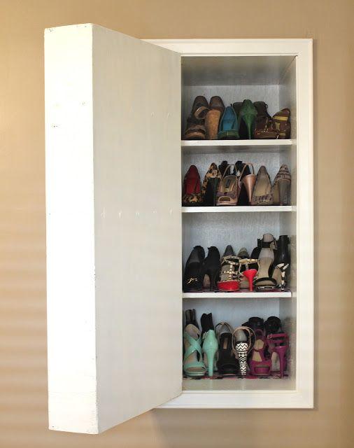 Hidden shoe storage dilettante | doyenne