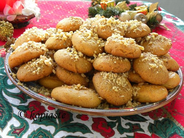 Melomakarona (Greek Honey Cookies with Pecans)
