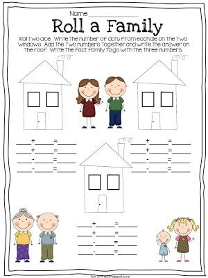 Fact Families...Free download from Fun in First: