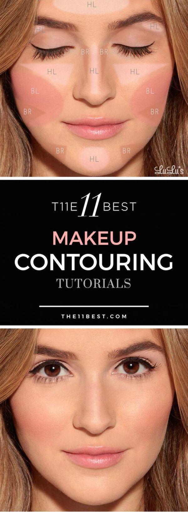 239 best contour tutorials images on pinterest make up looks the 11 best makeup contouring tutorials baditri Gallery